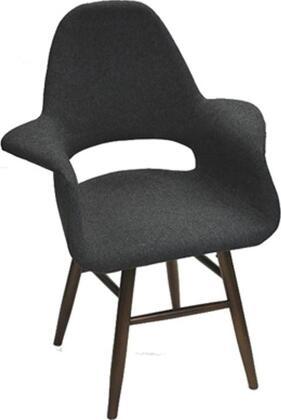 Fine Mod Imports FMI10033GRAY Eero Series Modern Fabric Wood Frame Dining Room Chair