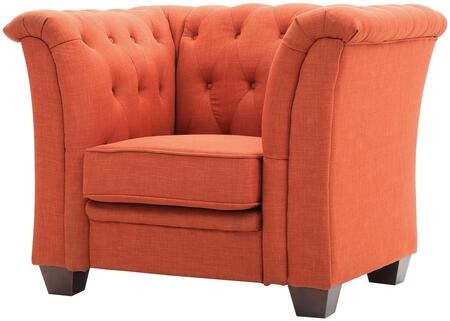 Glory Furniture G324C Orange Fabric Armchair