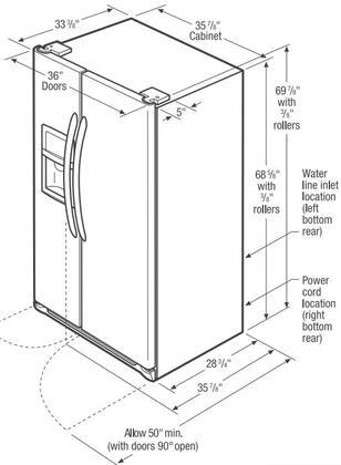 Frigidaire Fghs2631pf 36 Inch Side By Side Refrigerator