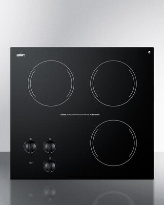 "Summit CR3240 21""  Electric Cooktop, in Black"