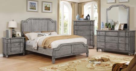 Furniture of America CM7855EKBEDSET Ganymede King Bedroom Se