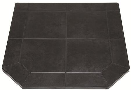 "US Stove HS40DLBJT1 Tile Hearth Pad with Non Combustable Substrate, 1"" Heavy Duty Steel Frame, and in Black Jack"