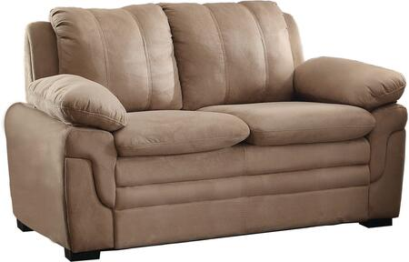 Glory Furniture G284L Microfiber Stationary with Wood Frame Loveseat