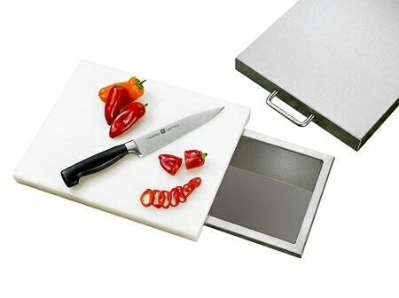 RTC1 Stainless Steel Trash Chute and Cutting Board