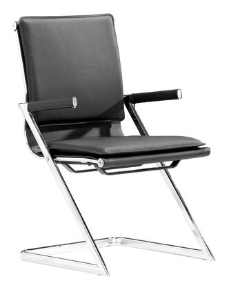 "Zuo 21521X Lider Plus Collection 17.5"" Seat Height Modern Conference Chair in"