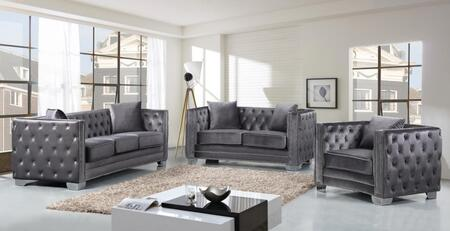 Meridian 648GRYSLC Reese Living Room Sets