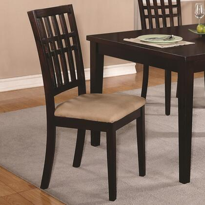Coaster 103342 Dining 103340 Series Casual Microfiber Wood Frame Dining Room Chair