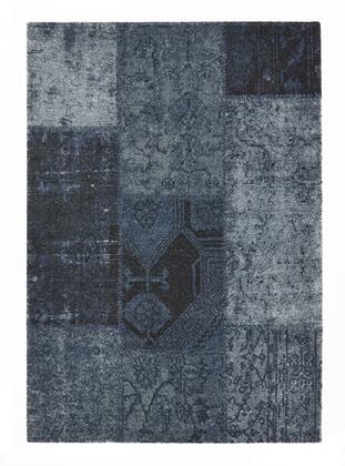 Citak Rugs 3500-025X Hudson Collection - Patchwork - Denim Blue