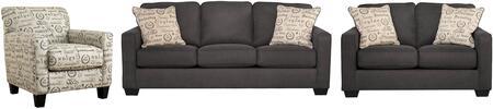 Milo Italia MI8665SLCCHAR Elisha Living Room Sets