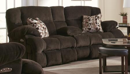 """Catnapper Brice Collection 62049- 89"""" Power Lay Flat Reclining Console Loveseat with Power Headrest, Storage, Polyester Fabric Upholstery and Steel Seat Box in"""
