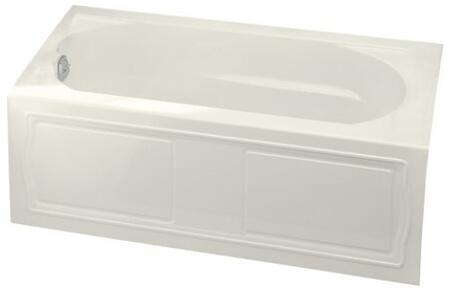 "Kohler K-1184-LA- Devonshire Collection 60"" Three Wall Alcove Soaking Bath Tub with Left Hand Drain:"