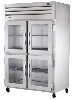 True STG2R-4 Spec Series Two-Section Reach-In Refrigerator with 56 Cu. Ft. Capacity, LED Lighting and Half Swing-Doors