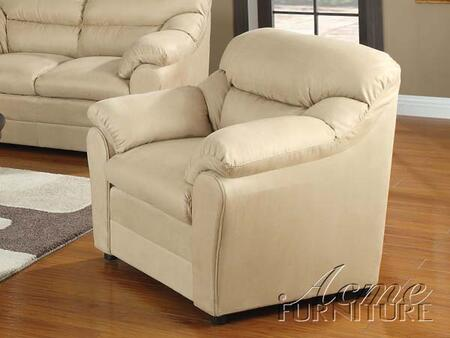 Acme Furniture 15172 Connell Series Microfiber with Wood Frame in Beige