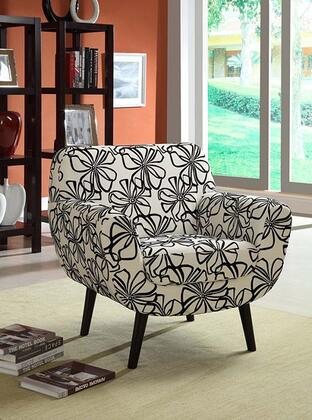 Armen Living LC2003FAFL Armchair Fabric Wood Frame Accent Chair