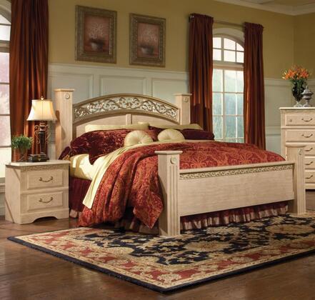 Standard Furniture 57252A Porto Fino Elite Series  Queen Size Poster Bed