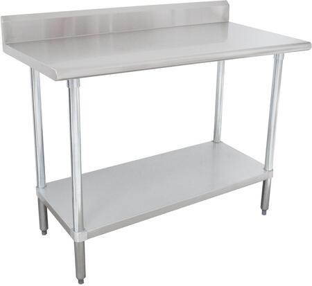 """Advance Tabco SLAG-24 24"""" Wide Work Table with Stainless Steel Flat Top and Understructure"""