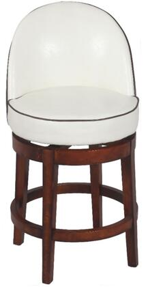 Chintaly 0292BS Residential Bonded Leather Upholstered Bar Stool