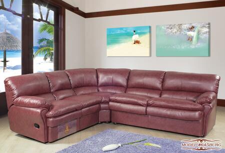 Meridian 645BURG  Stationary Bonded Leather Sofa