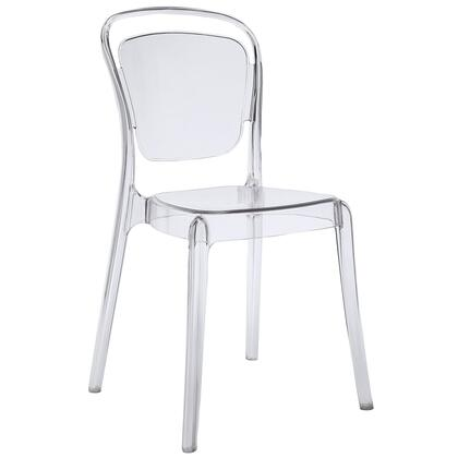 Modway EEI-1070 Entreat Dining Side Chair with Modern Style, Stackable Design, Easy Clean Surface and Durable Polycarbonate Construction