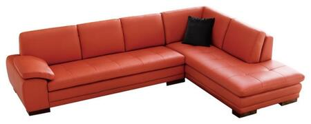 625 italian leather sectional, right arm chaise facing, pumpkin 11