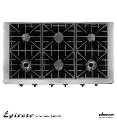 Dacor EG366SCHLP Discovery Series Liquid Propane Sealed Burner Style Cooktop
