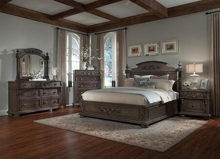 Klaussner 980CKPBDMNC Versailles California King Bedroom Set