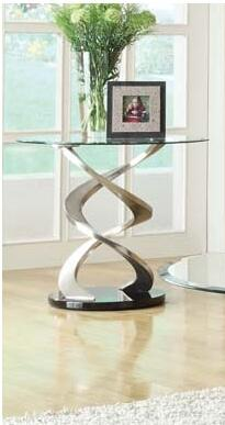 Acme Furniture 80032 Contemporary. Round Glass End Table
