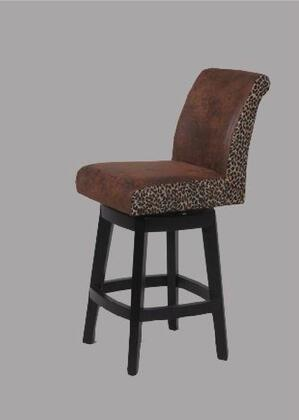 Chintaly 0289BS Residential Faux Leather Upholstered Bar Stool