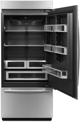 "Jenn-Air JB36NXFXE 36"" Fully Integrated Built-In Bottom Freezer with 15.3 cu. ft. Refrigerator Capacity, 5.56 cu. ft. Freezer Capacity, 4 Shelves, and Ice Maker, in Panel Ready"