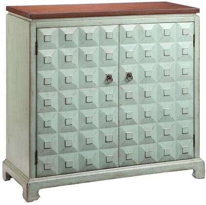 "Stein World Catialina 1340Y 36"" Cabinet with Fixed Shelf, Pyramid Block facings and Hand-Painted"