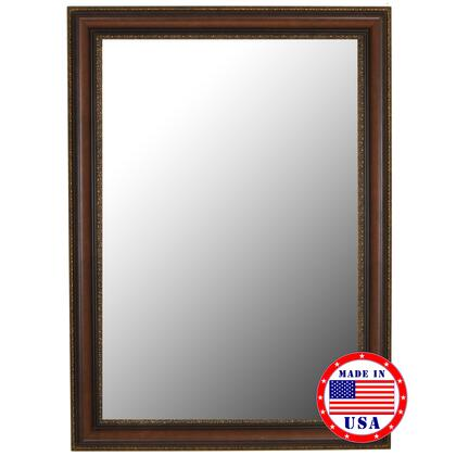Hitchcock Butterfield 81050X 2nd Look Polynesian Coco Brown Gold Trim Framed Wall Mirror