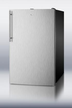 "Summit CM421BLSSHV 20"" Compact Refrigerator with 4.1 cu. ft. Capacity in Stainless Steel"