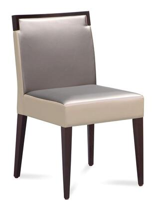 Domitalia ARIELS0K0 Dining Room Chair with Beechwood Frame Construction, Tapered Legs and Fabric Upholstery in