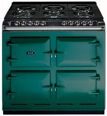 AGA A64NGJAD Six-Four Series Dual Fuel Freestanding Range with Sealed Burner Cooktop, 4.5 cu. ft. Primary Oven Capacity, in Jade