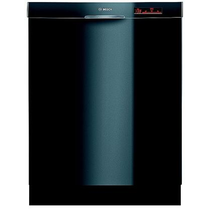 Bosch SHE68R56UC 800 Series Built-In Semi-Integrated Dishwasher with in Black