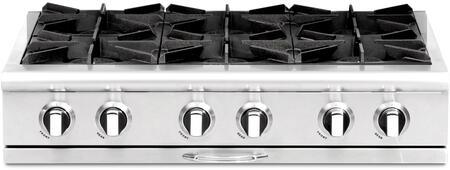 """Capital CGRT366L 36"""" Culinarian Series Liquid Propane Open Burner Style Cooktop"""