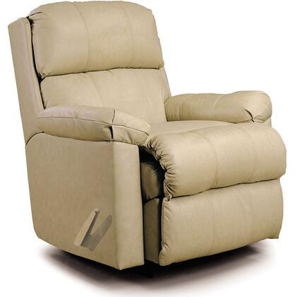 Lane Furniture 10/5110-15 Pad-over-chaise Rocker Recliner with ZERO GRAVITY  Mechanism, C3 Pocket Coil Seat cushion and Leather/Vinyl Match Upholstery in
