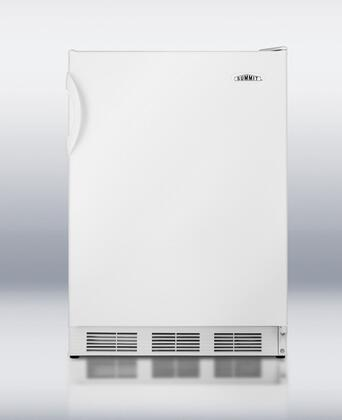 Summit FF7KEYPAD Undercounter Series White Compact Refrigerator with 5.5 cu. ft. Capacity