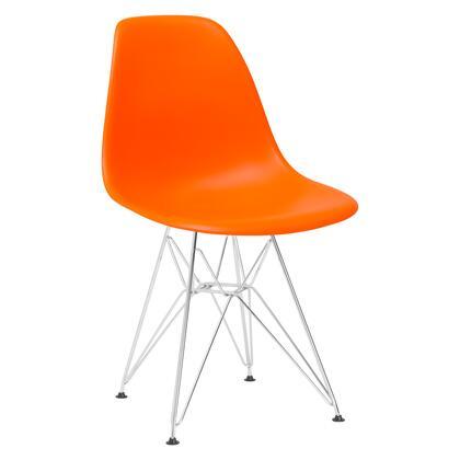 EdgeMod EM104CRMORA Padget Series Modern Metal Frame Dining Room Chair