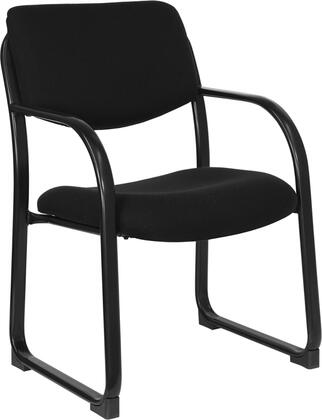 "Flash Furniture BT-508-XX-GG 18.75"" Fabric Executive Side Chair with Sled Base, Contoured Cushions, Waterfall Seat Reduces Leg Strain, Steel Tubular Frame, and Integrated Arms"