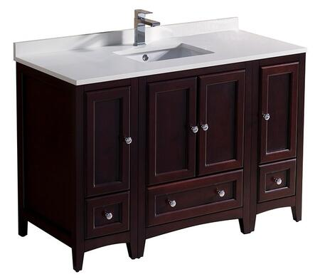 "Fresca Oxford Collection FCB20122412XX 48"" Single Vanity with 4 Soft Close Doors, 3 Soft Close Dovetail Drawers, Quartz Stone Top and Ceramic Undermount Sink in"