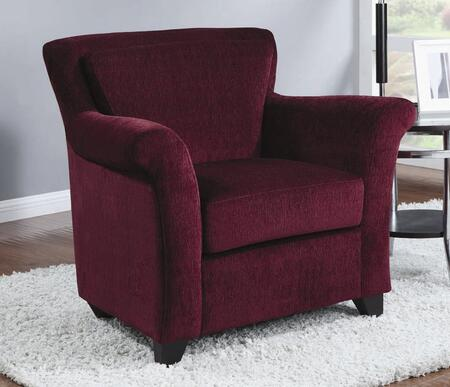 Coaster 900304 Club Faux Leather Wood Frame Accent Chair