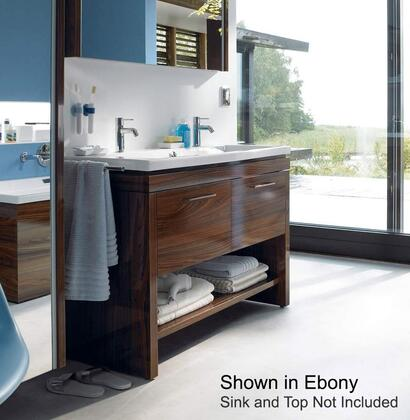 "Duravit 2nd Floor 2F64580 46"" Freestanding Vanity with 2 Pull-Out Compartments, Bottom Shelf and 4 Glass Dividers in"