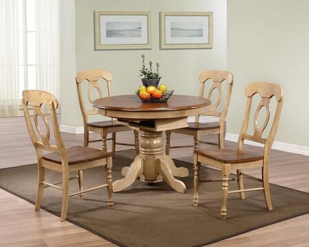 Sunset Trading DLUBR4260C50PW5PC Brook Dining Room Sets