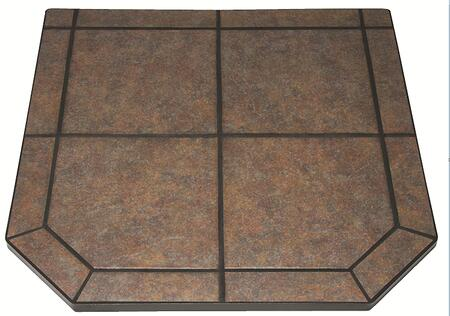 """Picture of HS48DLTTT2 48"""" Tile Hearth Pad Type 2 with 1.5"""" Heavy Duty Steel Frame Non Combustable Substrate and in"""