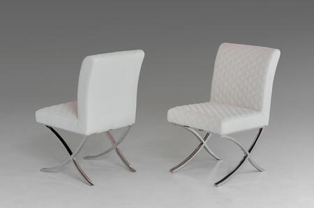 VIG Furniture VGVCB829WHT Modrest Adderley Series Modern Faux Leather Metal Frame Dining Room Chair