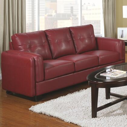 Coaster 504471 Sawyer Series Stationary Bonded Leather Sofa