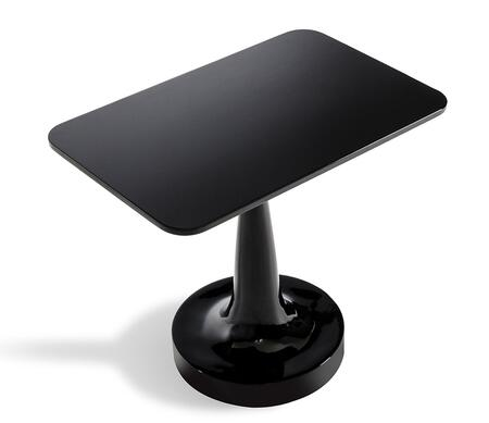 VIG Furniture VGWCPISAETBLK Modrest Pisa Series Modern Wood Rectangular None Drawers End Table