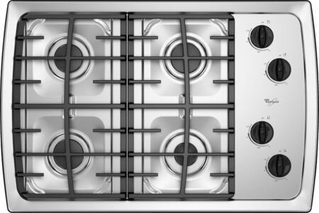Whirlpool SCS3017RS  Gas Sealed Burner Style Cooktop