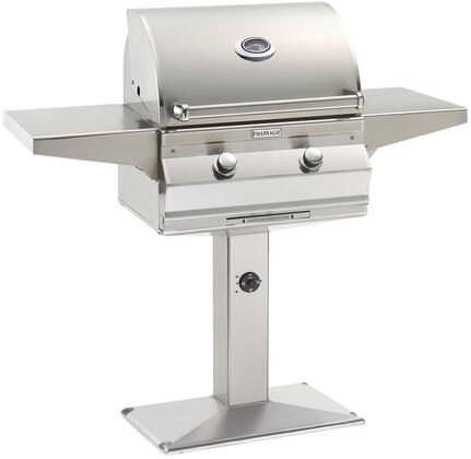 """FireMagic C430S1T1XP6 Choice 51.5"""" Post-Mount Grill with Heavy-Gauge Tubular Stainless Steel Burners and Electronic Ignition System"""